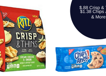Nabisco Coupons – RITZ Crisp & Thins $0.88, Chips Ahoy! $1.38, & More