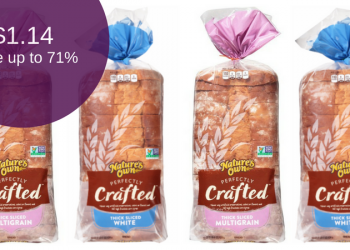 Nature's Own Perfectly Crafted Bread for as Low as $1.14 Each