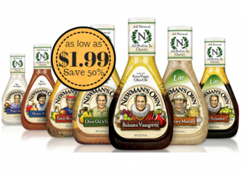 Newman's Own Salad Dressing as Low as $1.99 (Save 50%)