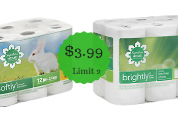 Signature Home Paper Towels and Bath Tissue Only $3.99