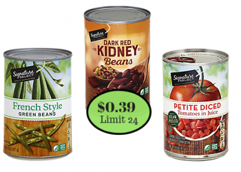 Signature Kitchens/SELECT Canned Vegetables, Tomatoes & Beans Just $0.39