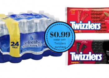 Refreshe Bottled Water 24 Packs Just $0.99 With Twizzlers Purchase