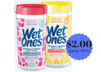 Wet Ones Wipes Only $2.00 With New Coupon & Sale