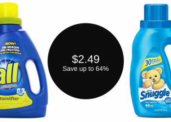 all Laundry Detergent & Snuggle Fabric Softener Coupon, Pay $2.49