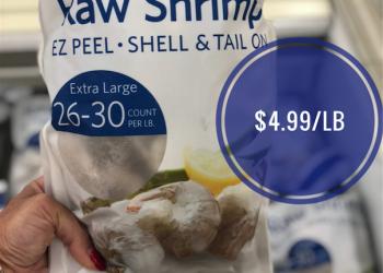 Extra Large Shrimp On Sale! Just $4.99/lb. at Safeway Friday Through Sunday