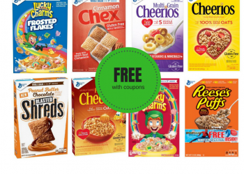 General Mills Cereal Catalina + Sale + Coupons = FREE Cereal