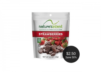 nature's intent Dark Chocolate Enrobed Fruit – Buy 1, Get 1 FREE at Safeway
