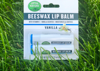 New Open Nature Beeswax Lip Balm Just $1.00 for 2 pack (Reg. $3.99)