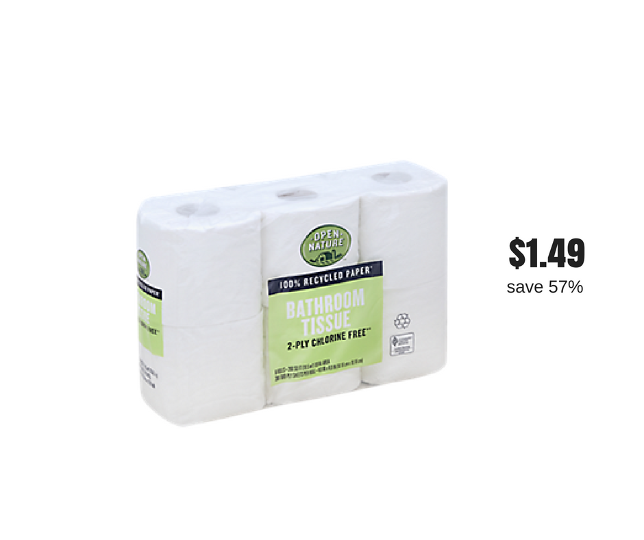 Open Nature Bath Tissue 6 Packs Just 1 49 With Sale And