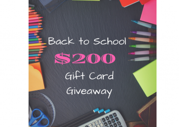 $200 Back to School Gift Card Giveaway