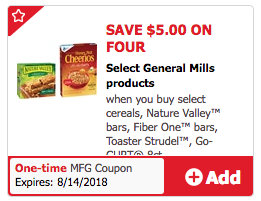 $5 off 4 General Mills Coupon