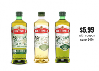 Bertolli Organic Extra Virgin Olive Oil for $5.99 (Save up to $7)
