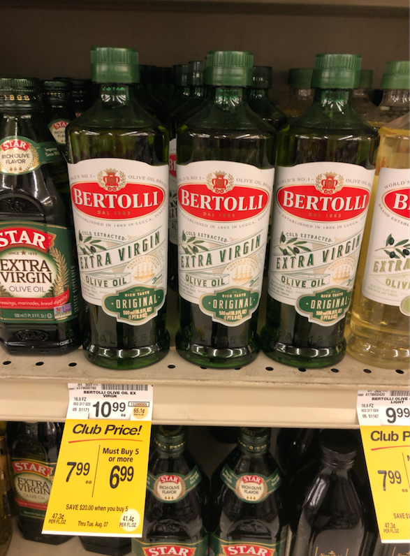 Bertolli Olive Oil 16 9 oz Just $5 99 With Coupon (Reg  $10 99