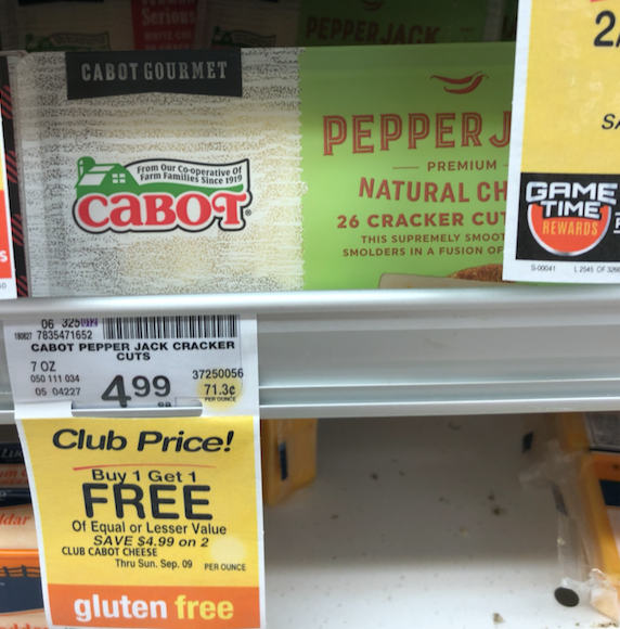 New Cabot Cheese Cracker Cuts Bogo Free Coupon Great Deal Super Safeway