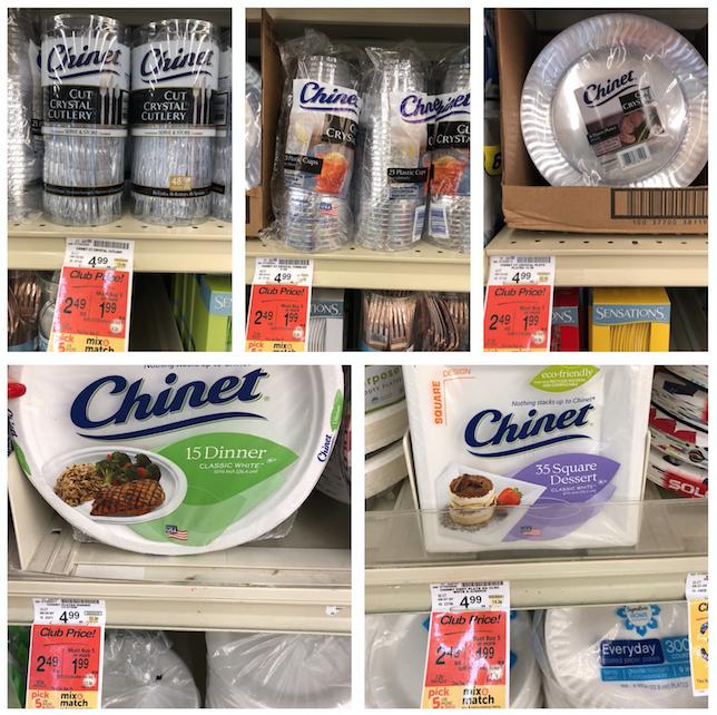 Chinet Sale at Safeway