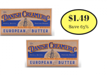 Danish Creamery European Style Butter Just $1.49 Each at Safeway