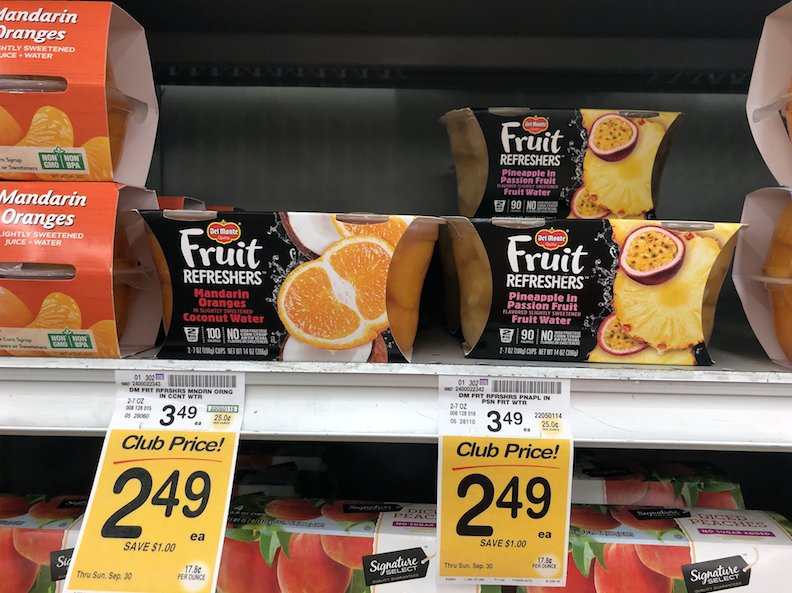 photograph regarding Del Monte Printable Coupons named Del Monte Fruit Refreshers Simply just $.99 at Safeway - Tremendous Safeway