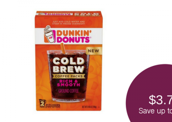 Dunkin' Donuts Cold Brew Coffee Packs for as Low as $3.74 (Save 61%)