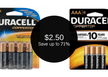 Duracell 8 Packs AAA &/or AA for as Low as $2.50 (Reg. $8.49)