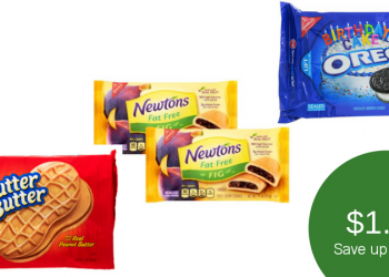 Nabisco Fig Newtons, Oreo Cookies, &/or Nutter Butter Cookies for $1.27
