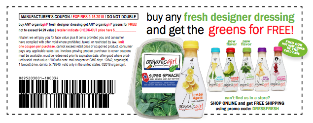 Free organicgirl salad with dressing coupon