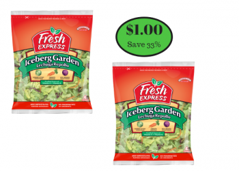 Fresh Express Bagged Garden Salad Just $1.00 After Coupon
