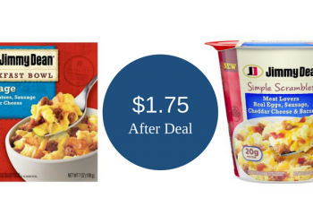 Jimmy Dean Simple Scrambles & Breakfast Bowls Just $1.75 With Coupon
