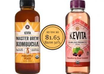 KeVita Kombucha & Sparkling Probiotic Drink as Low as $1.65