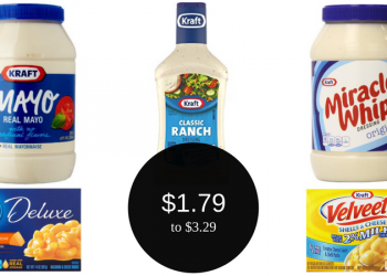 Kraft Real Mayo for $1.79 or Salad Dressing for $2.49