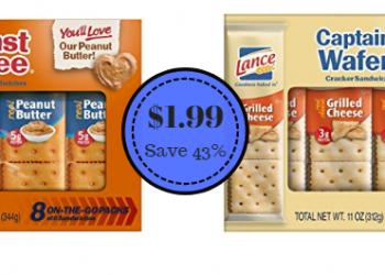 Lance Sandwich Crackers Just $1.99 – Save 43%