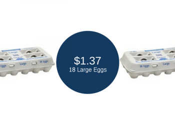 Lucerne Large Eggs Coupon, 18 Count for $1.37 (Available Friday – Sunday)