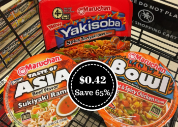 Maruchan Yakisoba and Noodle Bowls Just $0.42 (Save 65%)