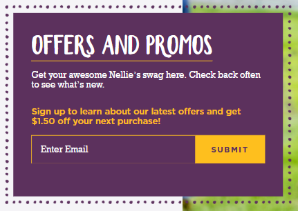 Nellie's coupon