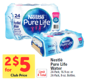 Get 24 Packs of Nestle Pure Life Water For As Low As $1 50 - Super