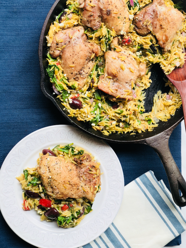 One-Pot_Greek_Skillet_Chicken_With Orzo