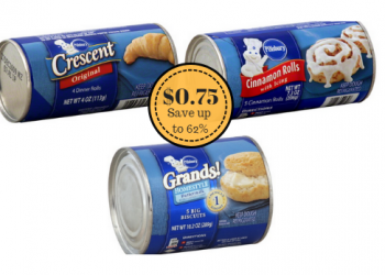 Pillsbury Biscuits, Crescent and Cinnamon Rolls Just $0.75