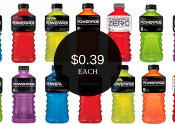 Powerade Drink Coupon – Only $0.39 Each Through Sunday (Up to 15 Bottles)