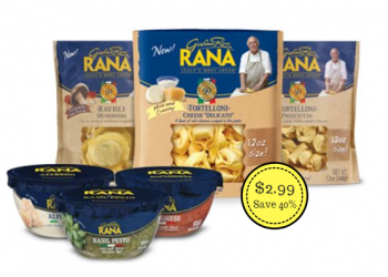 Giovanni Rana Pasta and Sauces Just $2.99 With Coupon