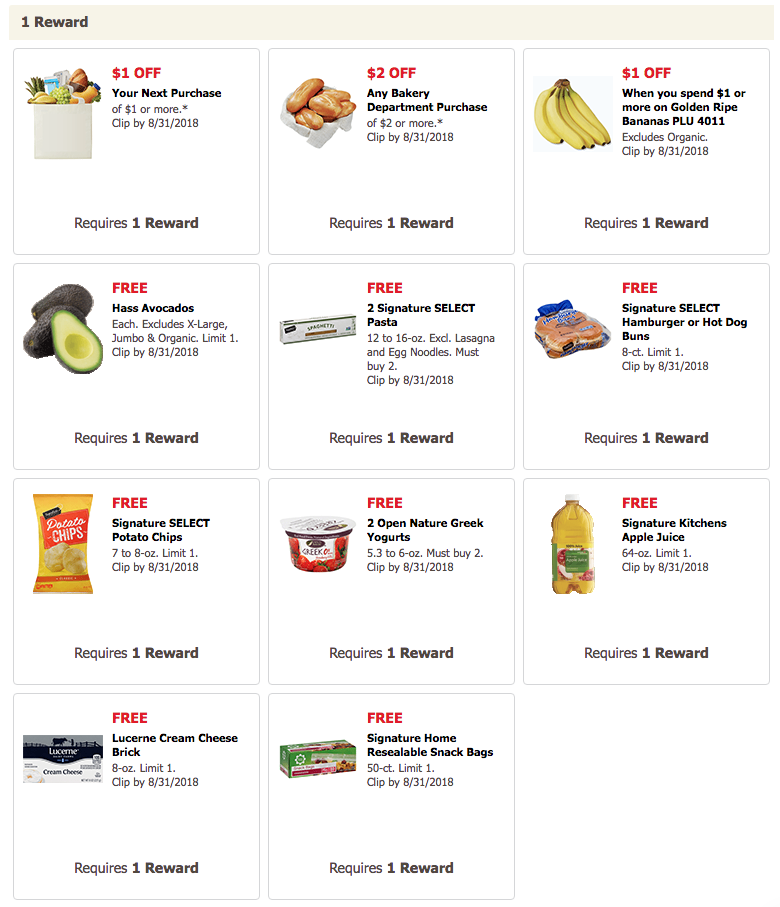 Safeway Grocery Rewards Offers