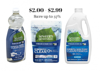 Seventh Generation Dish Soap Just $2.00, Dishwasher Detergent for $2.99 (Save up to 57%)