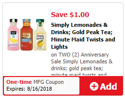 Simply drink coupon