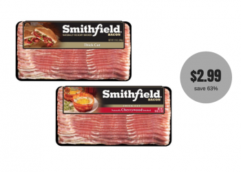 Smithfield Bacon 16 oz Just $2.99 With Coupon (Reg. $7.99)