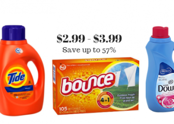 Tide Detergent $3.99, Bounce & Downy Just $2.99 at Safeway