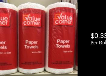 Value Corner Paper Towels for $0.33 Each (Save 63%)