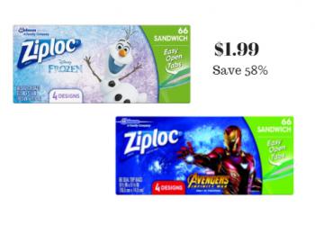 Ziploc Disney Print Sandwich Bags Just $1.99 (Reg. $4.79)