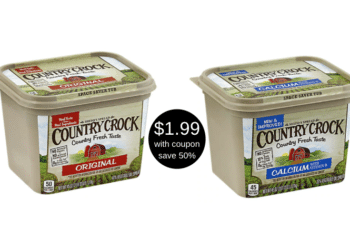 Country Crock Spread Only $1.99 at Safeway – Save 50%