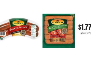 Eckrich Smoked Sausage Just $1.77 With Sale and Coupon (Reg. $3.99)