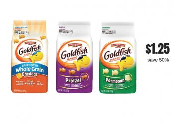 Pepperidge Farm Goldfish Crackers Just $1.25 Each at Safeway