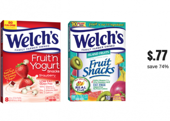 New Welch's Fruit Snacks Coupon for Safeway Sale – Pay Just 77¢ Each