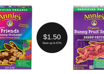Annie's Homegrown Bunny Grahams or Fruit Snacks for $1.50